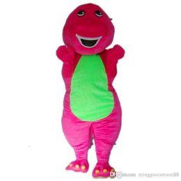 Wholesale Adult Barney Mascot - 2016 Purple dinosaur Mascot Costumes Profession Barney Dinosaur Costumes from Barney & Friends Halloween Cartoon Adult Size Party Dress