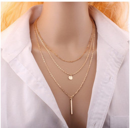 Wholesale Gold Snake Bracelet European - (In stock)European and American foreign trade multi-storey tassel chain sequel Necklace Jewelry Necklace Necklace