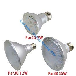 Wholesale E27 7w Cob Corn - E27 7W 12W 15W PAR20 PAR30 PAR38 Waterproof IP65 LED Spot Light Bulb Lamp Indoor Lighting AC85-265V