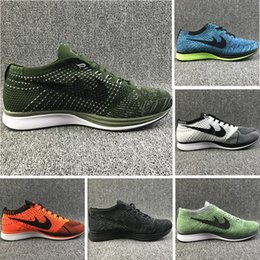Wholesale Air Plastics - High Quality Mesh Multicolor Volt Oreo Racer Casual Shoes Air Lunar Running Shoes Men Women Trainer Sneakers