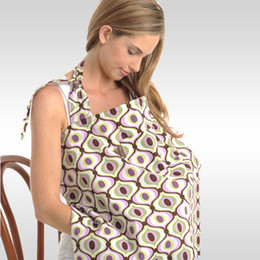 Wholesale Lactating Women - Wholesale- Baby Nursing Covers for Lactating Women Mom Nurse Wearing with Packet and Pads Cotton Breast-Feeding Covers