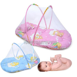 Wholesale Baby Folding Mosquito Net - H3#R Portable Baby Mosquito Bed Crib Baby Infant Folding Mosquito Net with Cushion Mattress Pillow