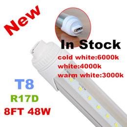 Wholesale Rotating Lamp White Light - X20 R17D t8 led tube lights 8ft 48W 2.4m Fluorescent Lamp Rotating smd2835 192leds 4800lm AC85-265V single pin warm pure cool white