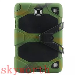 Wholesale Military Duty Hard Case - Hybrid Rugged Shockproof Defender Military Heavy Duty Kickstand Hard Case Cover For Samsung Galaxy Tab A 8.4 T350 9.7 T550