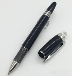 Wholesale Ball Point Pen Black - Luxury Crystal Head black resin roller ball-point pen 0.5mm Writing Point Brand Stationery Promotional School  Office Supply