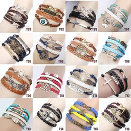 Wholesale Infinity Bracelet Mixed - Infinity bracelets HI-Q Jewelry fashion Mixed Lots Infinity Charm Bracelets Silver lots Style pick for fashion people