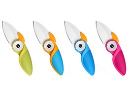 Wholesale Chinese Folding Knives - ArtiBirdy-Owl Folding knife Artiart Cute Bird Shaped Multi-Color Stainless Steel Folding Blade Portable Utility Fruit Knife Mini Peeler