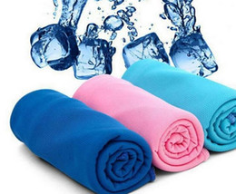 Wholesale Cool Baby Sets - Cold cooling Performance towel sports outdoor ice cold scarf scarves Pad neck tie collar wristband headband Summer beach cooling supplies