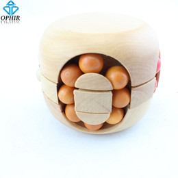 Wholesale Puzzle Teasers - Wholesale-Free shipping Ball Wooden Puzzle Brain Teaser Gift_SP119