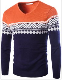 Wholesale Korean Orange Sweater - New arrivals korean style mens casual weave pullovers sweaters M- XXL my03