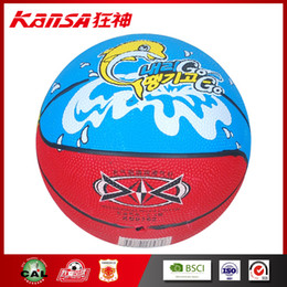 Wholesale Small Inflatable Balls - Kansa-0762 Colorful Cartoon Toys Small Size 2 Inflatable Basketball Child Rubber Training Basketball Wholesale Outdoor Activity Balls