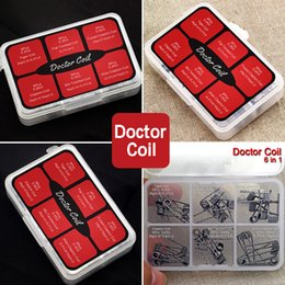 Wholesale Doctor Kits - Doctor Coil 6 in 1 Kit Authentic Advken Pre-built 36pcs Coils Alien Clapton Tiger Flat Twisted Heating Wire Fit Atomizers