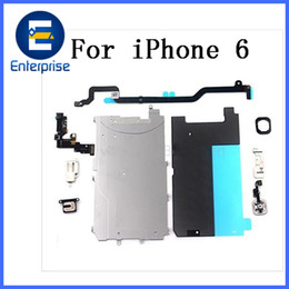 Wholesale Lcd Camera Flex Cable - Original Brand New For iPhone 6 Camera Earpiece Home button Flex Cable Metal Shield Full Small Repair Parts Set For iPhone6 LCD Screen