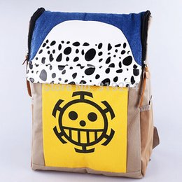 Wholesale Trafalgar Law Style - Wholesale-Wholesale Retail Free Shipping FS One Piece POP Trafalgar Law Chopper Laptop Ace Backpack Rucksack Fashion Bags Cosplay