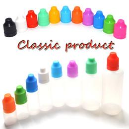 bouteilles en plastique vapeur liquide Promotion Vape E-jus E-liquide E-cig Flacon compte-gouttes en plastique 5ml 10ml 15ml 20ml 30ml 50ml 100ml 120ml PE Flacon à aiguilles avec bouchon enfant