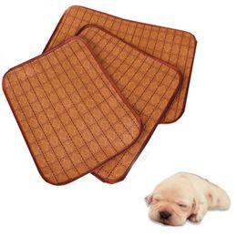 Wholesale Dog Cooler - New Summer Multiuse Seat Pet Dog Cat Cooling Pad Mat Sleeping Bamboo Bed Tatami