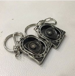 Wholesale Rotary Model - 10pcs Lot New HOT Spinning Rotor Keychain Creative Car Auto Parts Model Engine Rotary Keyring Key Ring Chain Keychain Keyfob