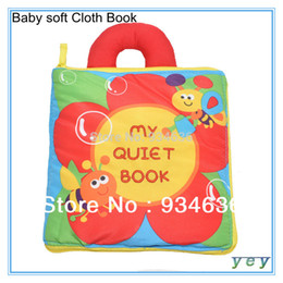 "Wholesale Free Soft Books - Free shipping Hot sale ""My Quiet Book"" baby goodnight soft Cloth Book"