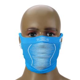 masque de ski à gros trous Promotion En gros-étirable vélo de montagne vélo anti-froid masque plein cou couvert chaud hiver ski cyclisme demi visage masque avec oreille trou