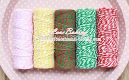 Wholesale Colored Bakers Twine Wholesale - 100 Meters lot Cotton bakers twine for crafting packaging rope colored twine twisted cotton rope for packaging