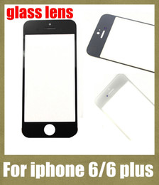 Wholesale Touch Screen Cell Phone Parts - front glass lens touch screen replacement for iphone 6 iphone 6 plus cell phone parts transparent touch panel cheap free shipping SNP007