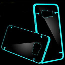 Wholesale Galaxy S4 Glow - For Samsung Galaxy S7 S6 Edge Plus S5 S4 Note 3 4 5 Luminous Fashion Slim Glow In Dark TPU Case Crystal Clear Transparent Phone PC Cover