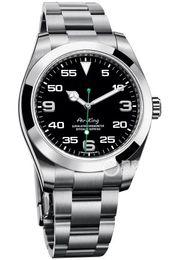 Air king watch online-Relojes de pulsera de lujo Air King Silver 316 Caja de acero inoxidable 2813 Mecánico automático Hombres Reloj para hombre Relojes