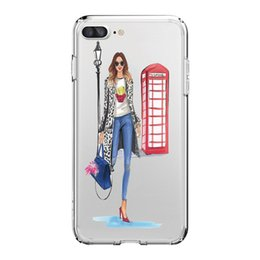 Wholesale Chinese Shops - Fashion Shopping Girls Pattern TPU Soft Solid Phone Case For IPhone X 8 8PLUS 7 7PLUS 6 6S Samsung S8 S8PLUS S7EDGE