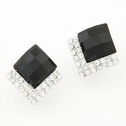 Wholesale Earrings Lo - Fine Korean fashion LO sweet temperament Stud Earrings brand jewelry for women 2015 wholesale