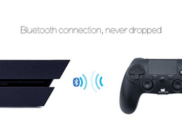 Wholesale Shock Spot - DATA FROG PS4 wireless Bluetooth game handle PS4 dual vibration, 6 axis Bluetooth game handle, black spot, new wholesale