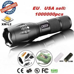 Wholesale Battery Work Lamp - G700 E17 CREE XM-L2 2200Lumens Zoomable LED Flashlight Torch light lamp with 18650 Battery charger holster