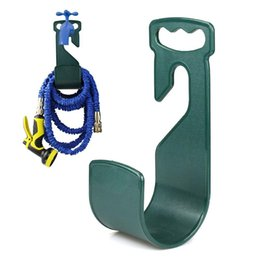Wholesale Plastic Tool House - Wholesale- 1pc Hose Pipe Hook Hanger Organiser Stand Holder House Outdoor Pipe Holder Flexi Expanding plastic Garden Home s2