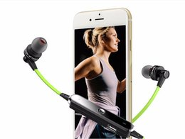 Wholesale Two Earphone One - Universal Sport Wireless Bluetooth Earphone Headset With Microphone Bluedio sport wireless headphones bluetooth headphone AWEI A990BL