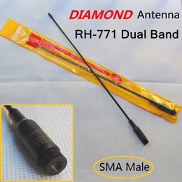 Wholesale Tyt 2r - Wholesale-Brand New Free shipping! Diamond RH-771 SMA Male Dual Band Antenna For Yaesu PUXING TYT Wouxun Baofeng UV-3R Two way radio ZT-2R