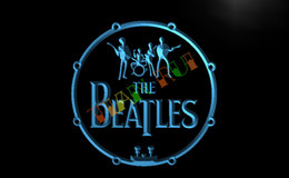 Wholesale Band Drum - LF013-TM The Beatles Band Music Drums Neon Light Signs. Advertising. led panel, Free Shipping, Wholesale