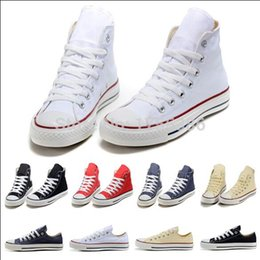 Wholesale Nude Canvas - drop shipping 2015 New canvas shoes men shoes star Low High unisex men sneakers women sneakers shoes all size 35-45 .@ds6