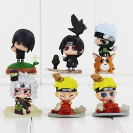 Wholesale Sasuke Uchiha Action Figures - Hot amime Naruto Uchiha Sasuke Uchiha Itachi Kakashi Jiraiya Action Figure Toys Gift for Kids