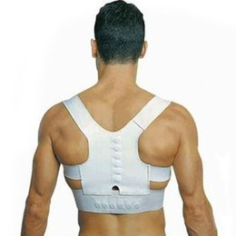 Wholesale Back Pain Support - Free shipping Fantastic New Men Women Magnetic Posture Support Corrector Back Belt Band Pain Feel Young Belt Brace Shoulder for Sport Safety