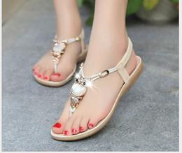 Sandalias de cuña niña plana online-2014 nuevos zapatos de verano de la manera sandalias de las mujeres sandalias de las mujeres para las mujeres pisos sandalias sandalias de las bombas de las mujeres de la playa de arena