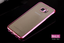 2019 teléfonos delgados baratos nueva llegada de oro para Samsung Samsung S6 edge + Plus PC concha transparente chapado delgado, resistente al polvo barato al por mayor teléfonos delgados baratos baratos