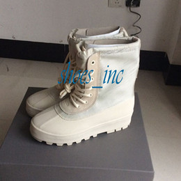 Wholesale Camp Falling Rock - Wholesale 2015 Classic Kanye West Boost 950 Duck Boot Color (Peyote) Moon Rock Men Fashion Sneaker Moonrock Trainers Shoes