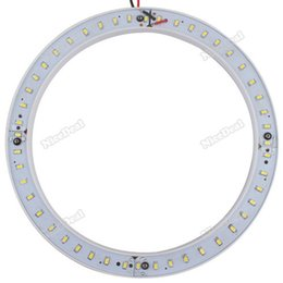 Wholesale Hours Ring - Wholesale-nicedeal New 5630 48 LED Car Angel Eyes Light Circular Tube Ring Lamp 15W 85-265V 1440LM 24 hours dispatch