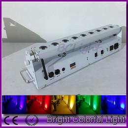 Wholesale Led Wall Washer Wireless - American DJ lighting one sample 9*18w RGBWA+UV 6 IN 1 Led battery wireless dmx led wall washer led bar uplights