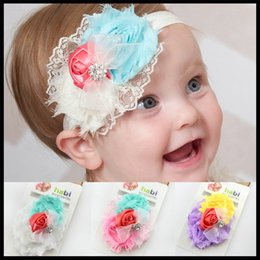 Wholesale Shining Headwear Kids Accessories - Baby feather Headbands Baby girl feather Hair Ornaments Shining headwear Kids' accessories 2015 children gift 10pcs kids childrens Headwrap