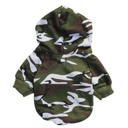 yorkie clothing Promo Codes - Camouflage Dog Clothes Spring Sweatshirt Pets Dog Clothing for Small Dogs Winter Puppy Coat Yorkie Chihuahua Apparel