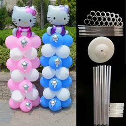 Wholesale Balloon Wedding Arches - 55pcs Water Ballon Base Stand Balloon Column Brithday Wedding Party Balloon Arch Folder