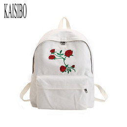 Wholesale Rose Cashmere - Rose Printing Backpack Women Casual Travel Backpack Students Canvas School Backpacks For Teenagers Mochila New 2017
