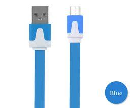 1 M 2 M 3 M Düz Şehriye Şarj Kablosu Için Mikro USB Data Sync Kordon Renkli Şarj Kablolu Samsung LG Xiaomi vb nereden