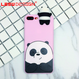 Wholesale 3d Animals Phone Covers - 2017 New product fashion mobile phone case 3D animal silicon cover for iphone 7 plus iphone x 8 plus