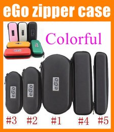 Wholesale Ego Zipper Box - eGo leather case electronic cigarette carry case zipper pouch e cig ego carrying case e cig box for atomizer evod battery ego ce4 kit FJ003